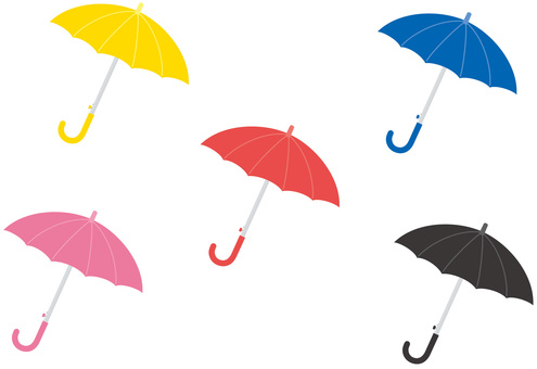 Umbrella of various colors