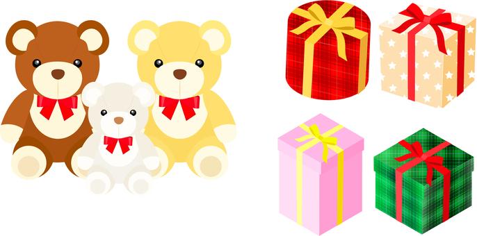 Bear's stuffed gift icon