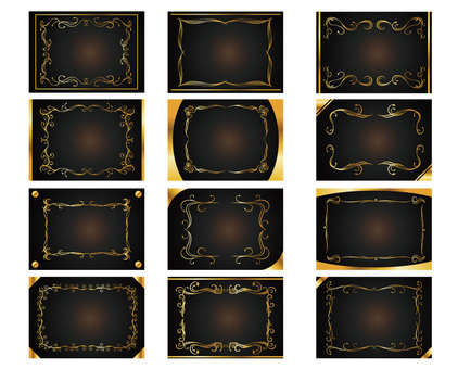Decorative rack frame Summary Gold card type