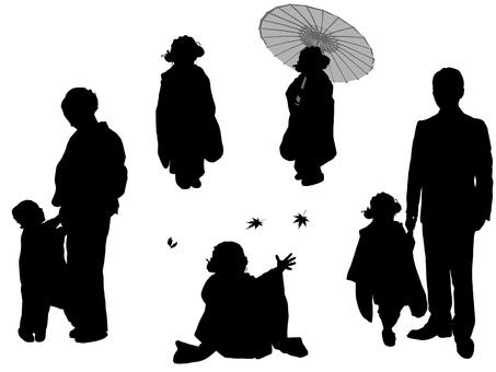 Shichigosan silhouette