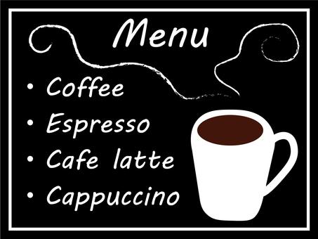 Cafe menu (cafe-style interior goods)