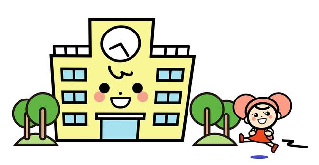 Simple building - go to school