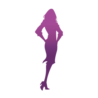 Female model silhouette