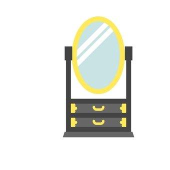 A mirror stand · Chicken decoration
