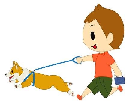 Boy to walk orange
