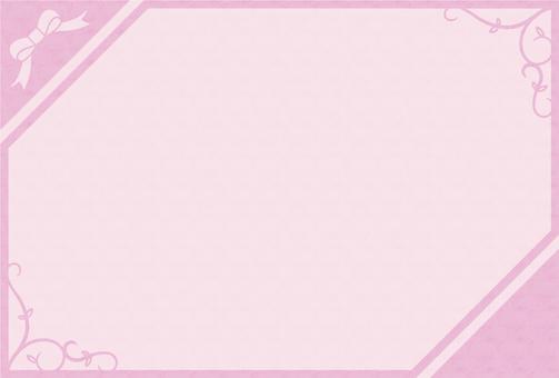 シンプルフレーム - ピンク
