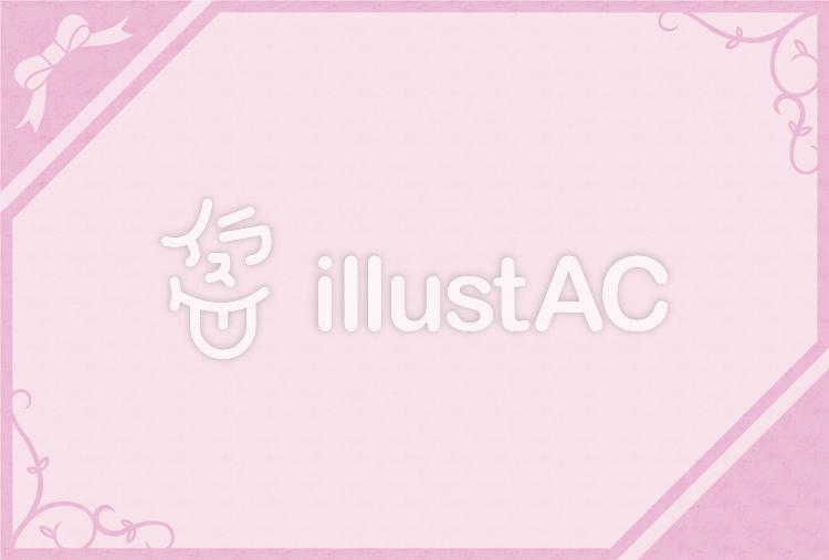シンプルフレーム - ピンクのイラスト
