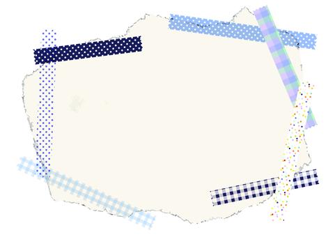 Masking tape frame blue