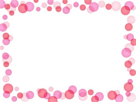 Polka dot frame pink