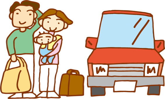 3 people Family_Drive departure