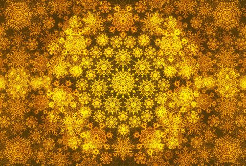 Snow stardust 4 (yellow)
