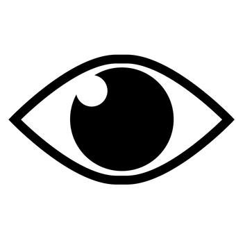 Eye icon mark illustration material