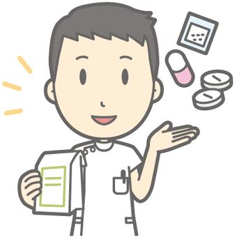 Male nurse - medicine - bust