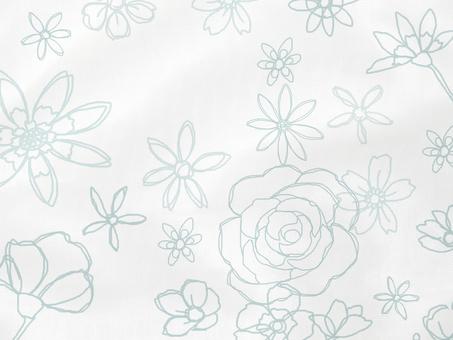 Handwritten Flower Satin Fabric Wind A Background Material