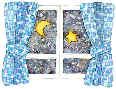 달밤의 창문