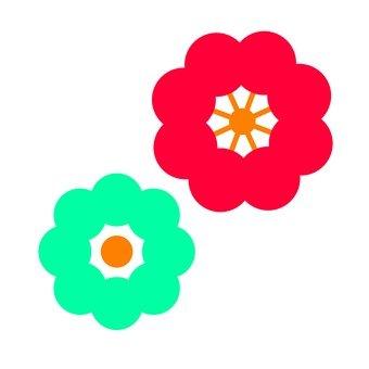 紅色和藍色的花朵3