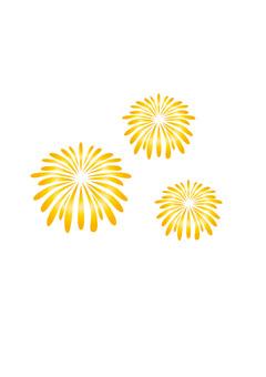 Yellow fireworks