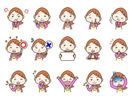 Female facial expression set 02