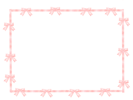 Ribbon's frame pink