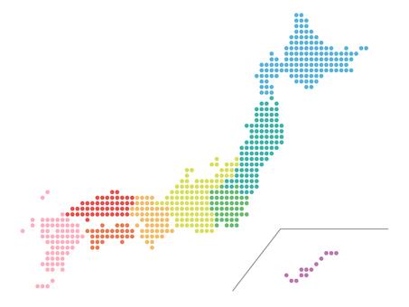 Mapa do Japão (ponto)