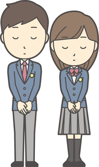 High school student male and female set-006-whole body