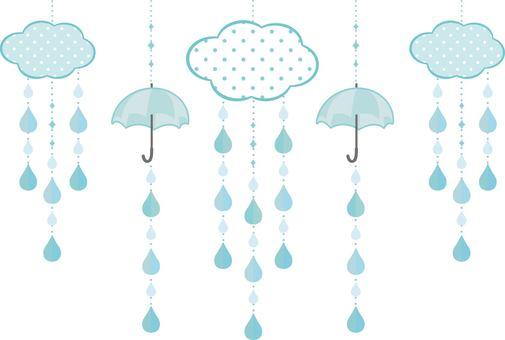 Rain garland blue