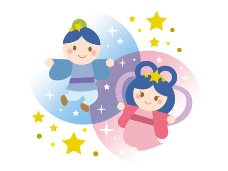Tanabata_Orihime and Hikoboshi