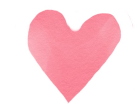 Watercolor-style heart