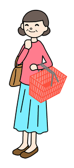 Shopping smile middle-aged women