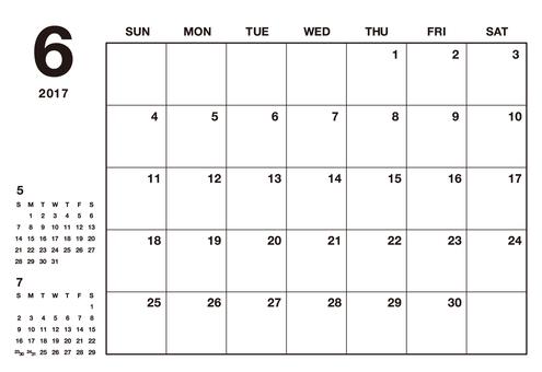 June 2017 Calendar Simple
