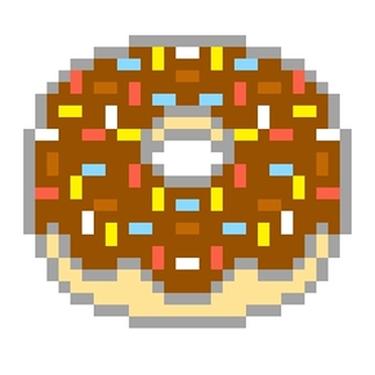 Topping chocolate donuts