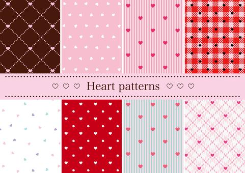 하트 무늬 패턴