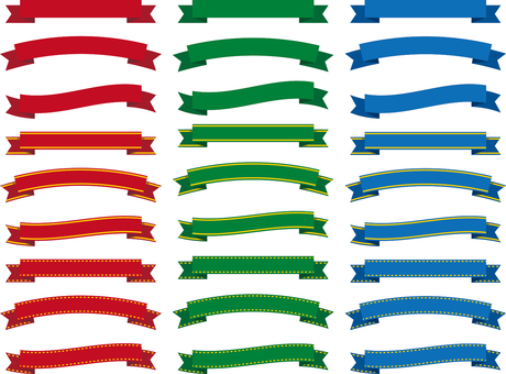 ai decorative ribbon 3 colors summary