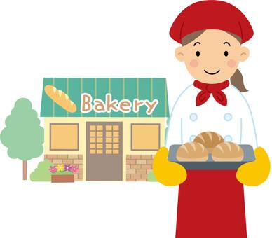 パン職人シルエット イラストの無料ダウンロードサイトシルエットac