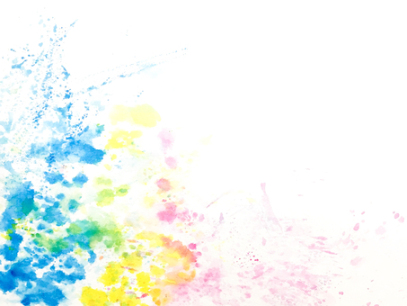 Splashes of colorful inks Primary colors
