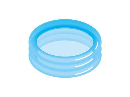 Vinyl pool blue