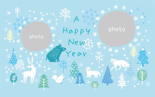 New Year card _ Frame Ya 11