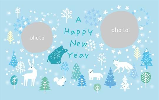 Thẻ năm mới _ Khung Ya 11