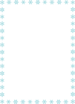 Simple frame of snow crystal