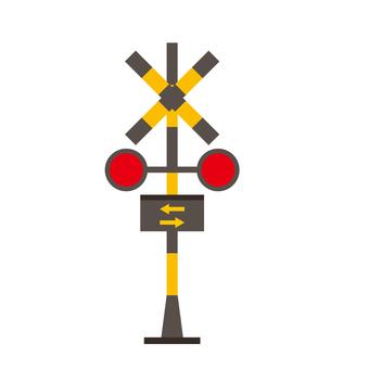 Level crossing icon
