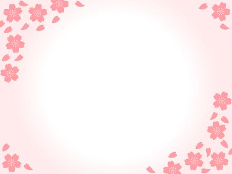 Sakura gradation frame