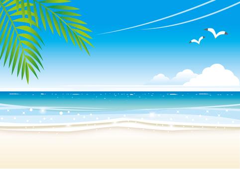 波打ち際のビーチの風景