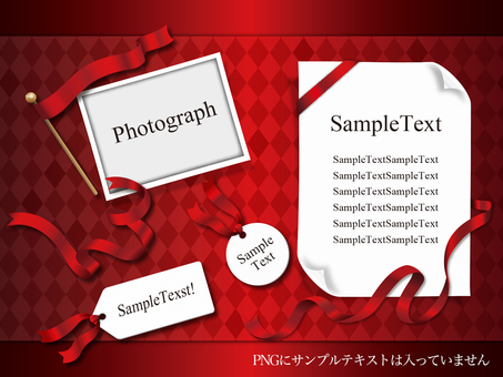 Ribbon & paper item material