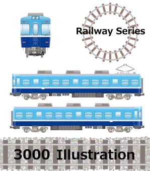 Commuter train type 3000 Choshi Electric Railway