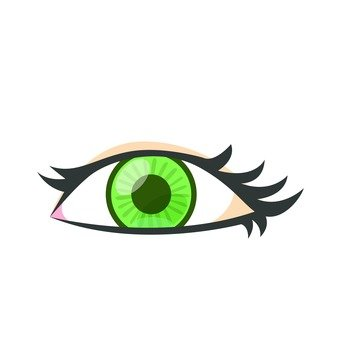 Eye with color control