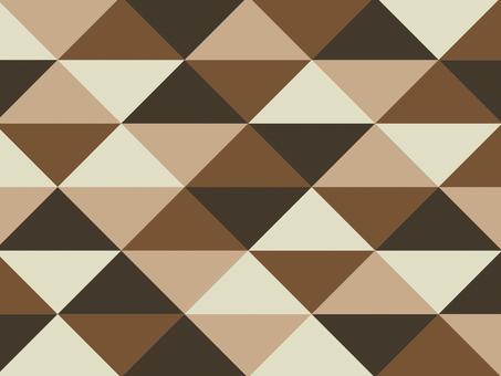 Texture triangular mosaic brown
