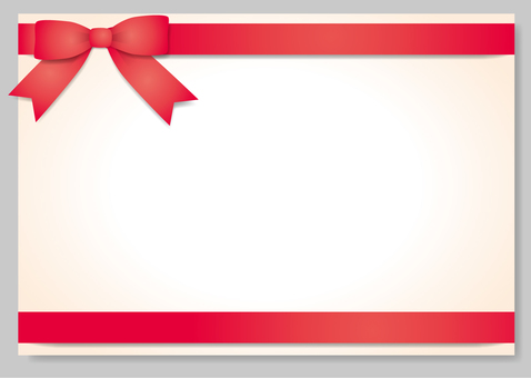Frame with ribbon (red) separately