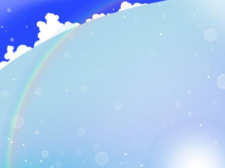 Summer sea rainbow