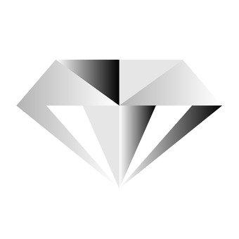 Cut Diamond - White