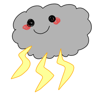 Rain clouds and Kaminari